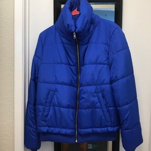 Forever 21 Blue puffer jacket